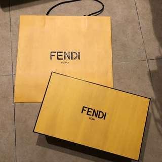 FENDI 鞋盒 紙袋