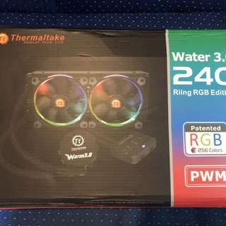 Thermaltake Water 3.0 Riing RGB 240 Rad Dual 120mm Fan Watercooling