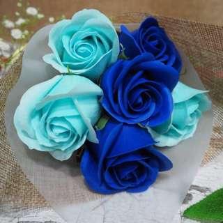 6 Stalks Of Soap roses