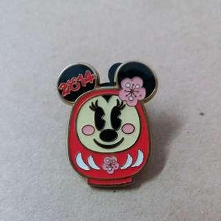 東京迪士尼 Minnie襟章