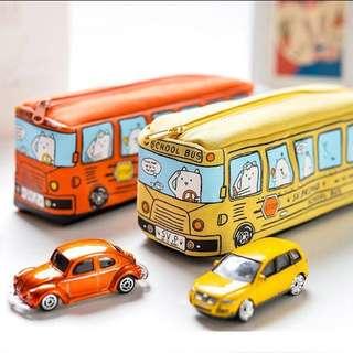 🌻INSTOCK! Harajuku korean cute school bus pencil case #Huat50sale