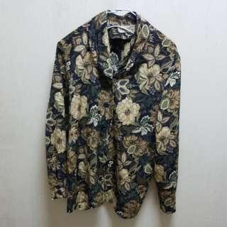 日本古着花苞領襯衫