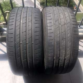 USED Nexen N'Ferra tyres (1pair-2pieces)