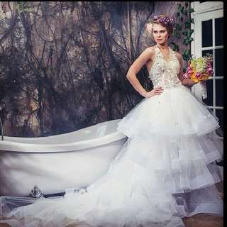 Fairy tale wedding gown size S/M