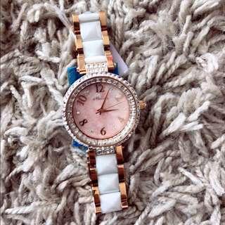 Melissa幻彩貝殼錶面水晶陶瓷錶