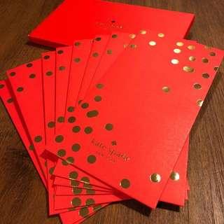 KATE SPADE RED POCKET SET 利是封 8個 / 狗年 / RED PACKET / 8 EVENLOPES / 紅包 / 限量 / 名牌