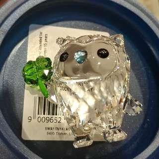 Swarovski Hoot - 我真幸運 水晶擺件