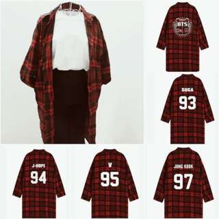 Preorder - BTS SHIRT FREE SIZE COLOUR AS SHOWN ONLY ALL MEMBER AVAILABLE exc.pos
