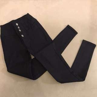 90%off Tokyo high waist dark blue denim color tight leggings