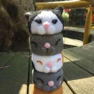 🚚 羊毛氈 貓咪塔