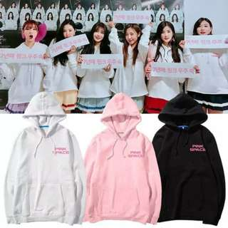 Preorder - APINK PINK SPACE HOODIE SIZE ; S~3XL COLOUR AS SHOWN ONLY exc.pos