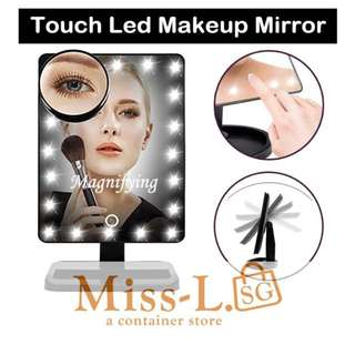 🐾 TOUCH LED MIRROR WITH 10X MAGNIFYING