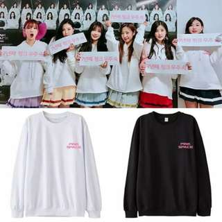 Preorder - APINK PINK SPACE SWEATSHIRT SIZE ; S~3XL COLOUR AS SHOWN ONLY exc.pos