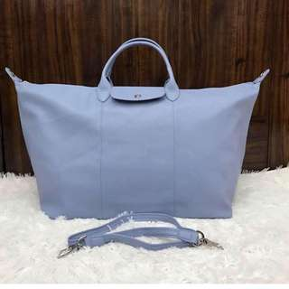 Longchamp Cuir Leather Travel Tote