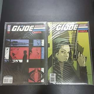 2 IDW Comics GI JOE COBRA SPECIAL #1 & #2