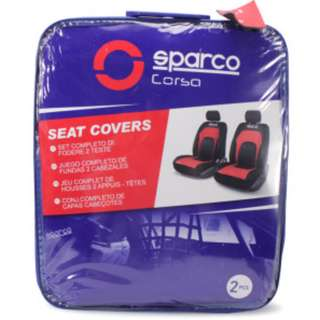 AUTHENTIC SPARCO COVER KURSI MOBIL ROW DEPAN PVC 2 PCS. Warna : Hitam-Merah. Berat : 7,20kg.