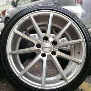 Vossen inforged 18 inch sports rim honda accord tyre 80%. Duduk bangku berlapik tilam, bro ini rim confirm you mengidam!!!