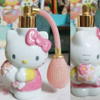 絕版 sanrio hello kitty 陶瓷香水噴樽