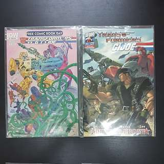 4 IDW Comics TRANSFORMERS VS GI JOE #0 TO #3
