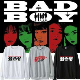 Preorder - RED VELVET BAD BOY SWEATSHIRT SIZE ; S~3XL COLOUR AS SHOWN ONLY exc.pos