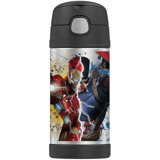 SALE! BRAND NEW Thermos Funtainer 12 Ounce Bottle, Captain America Civil War Iron Man