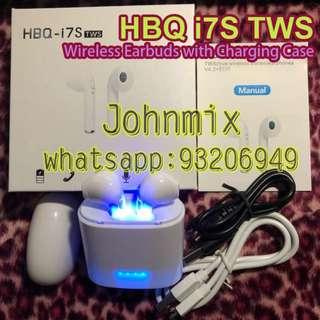 正品正貨HBQ i7S TWS 雙耳真無線藍芽耳機連充電盒 Wireless Bluetooth headphone portable Mini headset with charger box