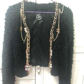 超美玩味Chanel系列Daily Dolly 自家設計老佛爺小香風黑色外套