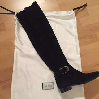 61b34b75df284  reduced  Gucci Dionysus Suede Over-the-knee Boots (Size 36)