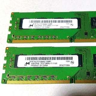Micron DDR3 2 x 4gb = 8gb 1600mhz RAM memory for desktop computer DDR3L