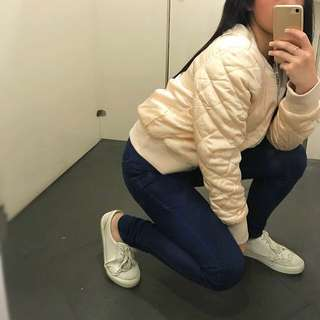 H&M Champagne Bomber Jacket