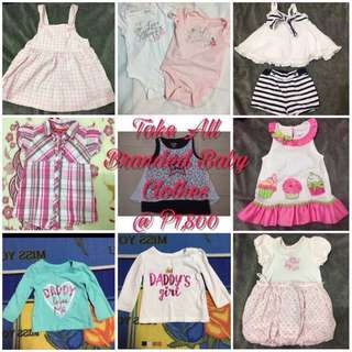 LOVE BUNDLE Take All Branded Baby Girl Clothes 6-12mos