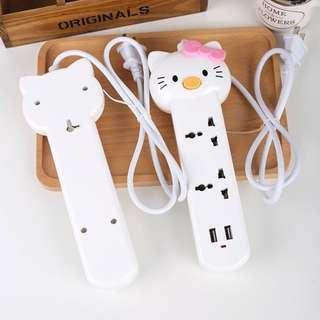 Hello Kitty Universal Socket   USB Charger