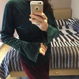 Blouse green