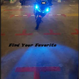 Yamaha R15 on T10 wedge CREE super bright project lens FOR POLE LIGHT - cash&carry