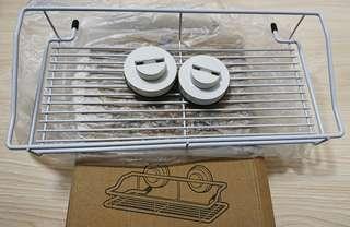 Dehub 白色烤漆  吸盤置物架