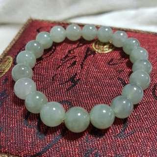 ⭐Bracelet GradeA Myanmar Jade (糯种浅绿)