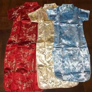 小童 旗袍 唐裝 中國 傳統 新年