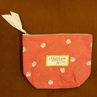 🌹 LOCCITANE 金線玫瑰化妝袋 Cosmetic Bag