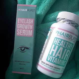 Hair burst vitamins & eyelash growth serum