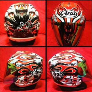 Arai Helmet HAGA GP / Display Set