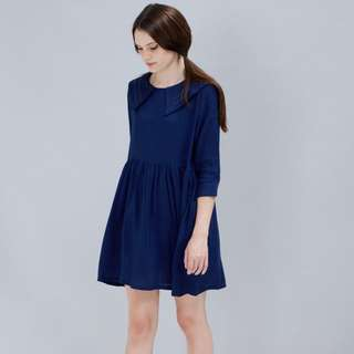 THE WITHE PEPPER Sleeve Sailor Dress Navy