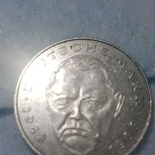 The coin of Germany 1988 with engraving