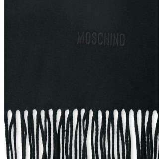 🚚 現貨 ❤️MOSCHINO❤️素面繡字羊毛圍巾