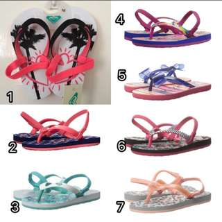 PO Authentic Roxy Slippers For Toodlers From USA!!