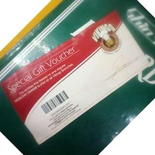 Vikings special gift voucher di ko ginagamit wala kase AQ kssama kumain :( no expiration date
