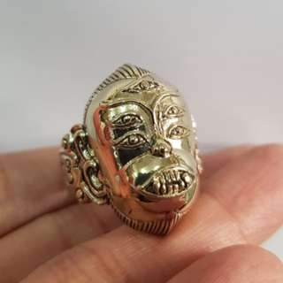 Thai amulets Ring Seehuhata 4 ears 5 eyes God. Aj Subin