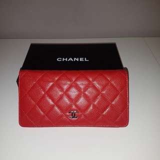 Chanel Quilted Cavier Yen Wallet