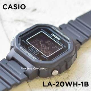 Montres Company香港註冊公司(25年老店) CASIO standard LA-20 LA-20WH LA-20WH-1 LA-20WH-1B 有現貨 LA20 LA20WH LA20WH1 LA20WH1B