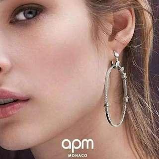 Apm s925純銀 兩款戴法 耳環