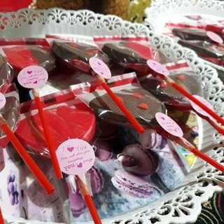 valentine's heart shaped chocolate